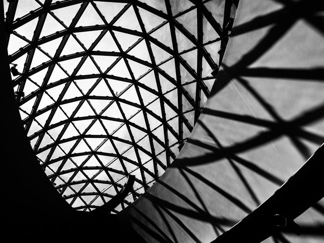 Architecture Built Structure Pattern Indoors  Design No People Geometric Shape Metal Low Angle View Shape Glass - Material Cupola Dali Museum