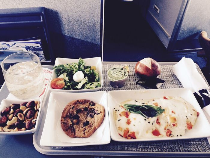 First Class Yum Pretzel Bread Food And Drink Airplane Meals