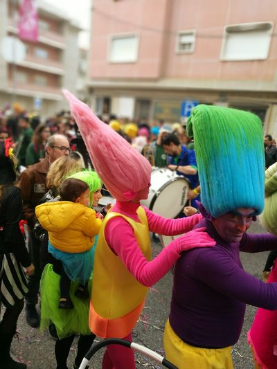 Multi Colored Adults Only Day Carnaval Adult People
