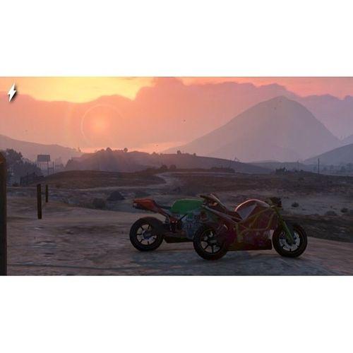 Bike Life GTA Gtabikes Bikelife Gta5 gta5whips sunset