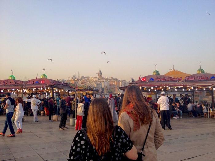 Adult Adults Only Architecture Balikekmek City Crowd Day Erasmus Ferris Wheel Galata GalataBridge Galatatower Istanbul Large Group Of People Loveistanbul Market Outdoors People Sky Turkey Women
