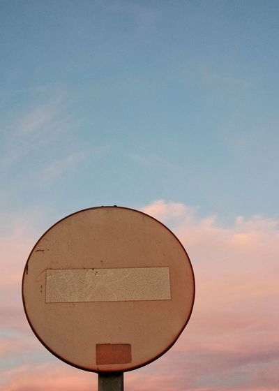 don't look , don't talk , just feel Abstract Photography Pink Color Pink Sunset No Comunication Borred Road Sign Directional Sign