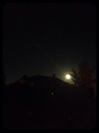Beautiful Full Moon over San Francisco BayArea California