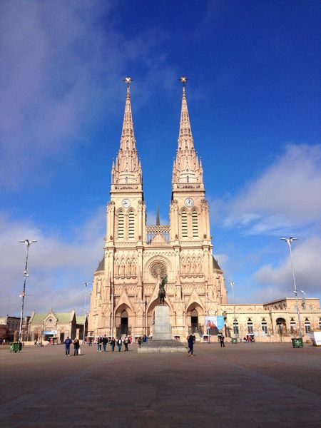 Connected By Travel Architecture Built Structure Building Exterior Religion Spirituality Sky Large Group Of People History Place Of Worship Tourism Real People Day Travel Destinations Outdoors Travel Blue Cloud - Sky Men Women City Argentina Tigre Lujan, Argentina Buenos Aires