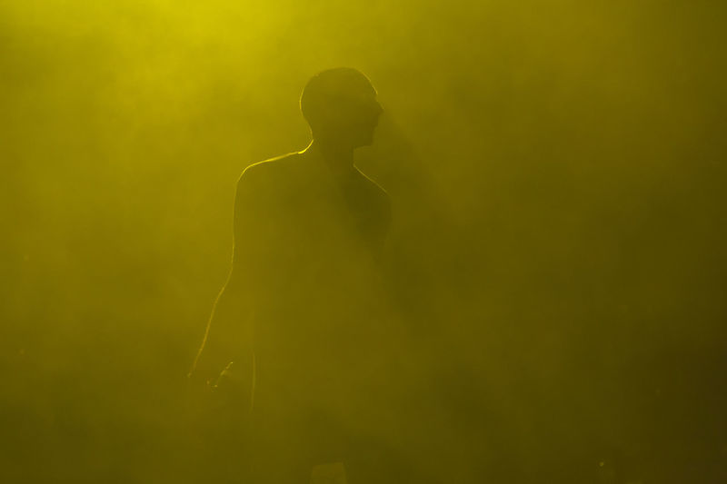 Bulgaria Burgas  Concert Festival Festival Season Lifestyles Live Musician Performance Shade Silhouette Singer  Smoke Stage Yellow