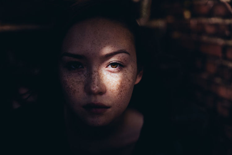 Adult Child Childhood Children Only Close-up Cultures Eye Freckle Girls Human Body Part Human Eye Human Face Indoors  Looking At Camera One Person People Portrait Young Adult The Portraitist - 2018 EyeEm Awards Capture Tomorrow