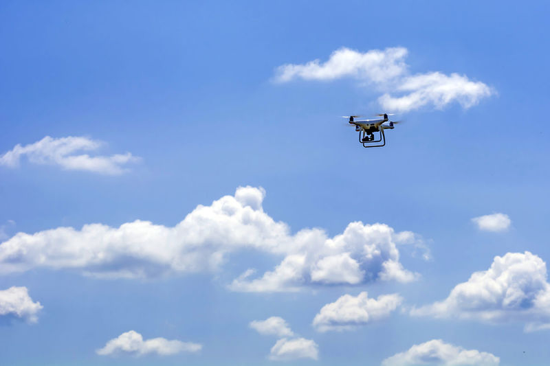 Low Angle View Of Drone Against Sky