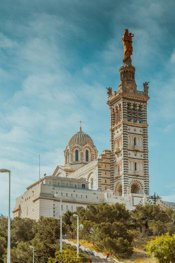 Marseille Architecture Religion Dome Outdoors Travel Destinations Day Sky No People Politics And Government Notre Dame De La Garde Vieux Port Women