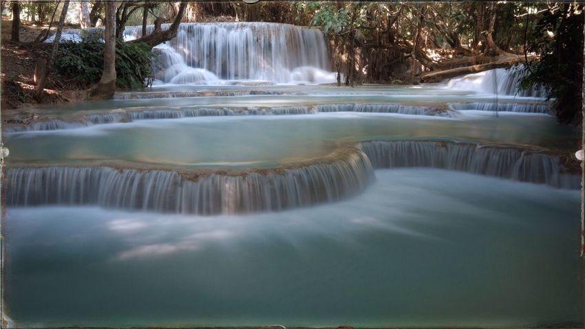 Waterfall near Luang Prabang, Laos Waterfall Nature