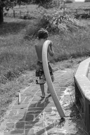 Poolside kid Kid Child Poolside Full Length One Person Real People Rear View Lifestyles Leisure Activity Nature