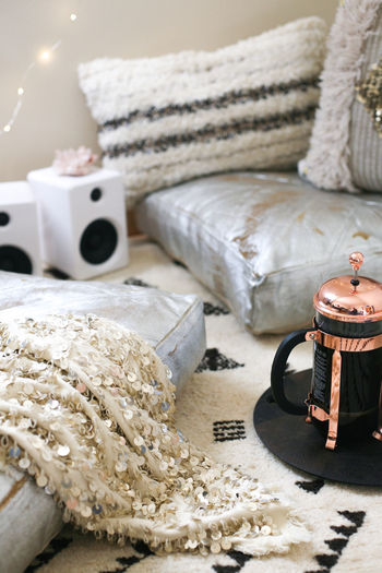 Bohemia Bohemian Boho Chic Chilling Coffee Dorm Life Dorm Room Interiors Lifestyle Pillow Bohemian Style Boho Boho Style Chill Mode Cofee Time Floor Pillow French Press Indoors  Interior Design Neutral No People Twinkle Light