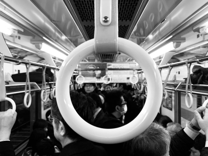 Public Transportation Mode Of Transportation Transportation Group Of People Real People Vehicle Interior Rail Transportation