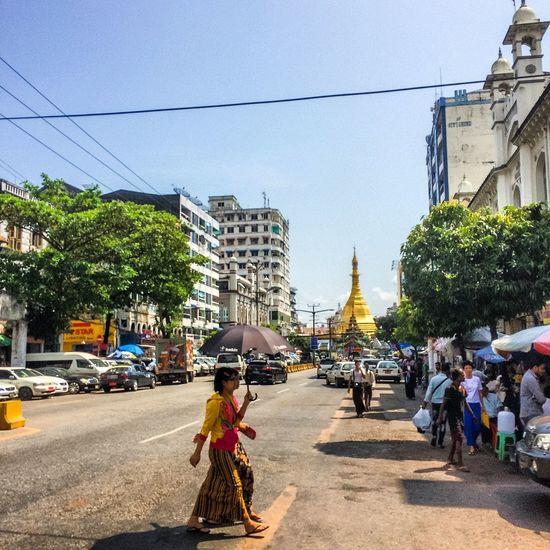 Morning time in Yangon. Myanmar