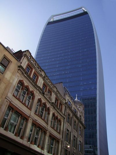 Old & Modern Buildings (Walkie Talkie) Composition Financial District  GB London Modern And Old Buildings Sunlight Tourist Attraction  Blue Sky Building Exterior Capital City City Life Full Frame Low Angle View Modern And Old Architecture No People Office Office Building Exterior Old And Modern Buildings Outdoor Photography Reflection Skyscraper Steel And Glass Structure Tower Travel Destination Uk