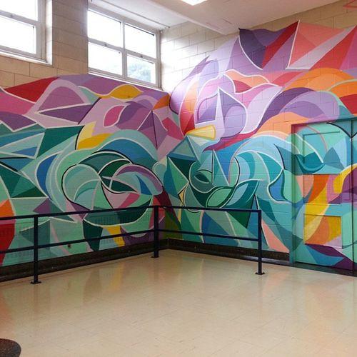 Mastrocola Mural Marymount Highschool phase1 almostdone slowandsteady
