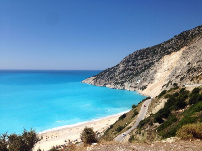Sea Clear Sky Water Blue Scenics Horizon Over Water Nature Beach Beauty In Nature Travel Photography Travel Destinations Nature Day Tranquility Outdoors No People Mountain Sky Tree Kefalonia, Greece Greece Myrtos Beach Photography
