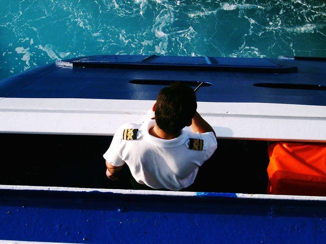 Boat Sea View Greece Landscapes Islandhopping