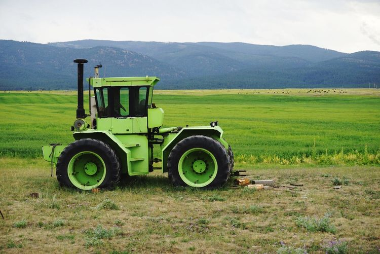 Colour Of Life Montana Farm Life Tractor Field Farming Green