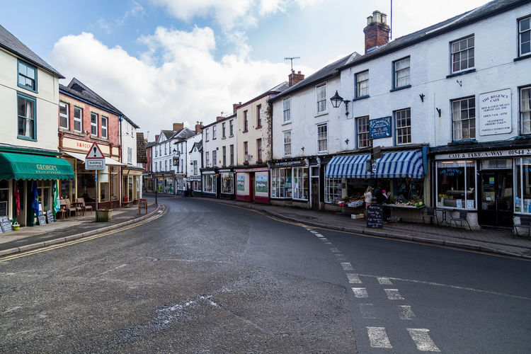 Kington high street... Herefordshire Junction Kington Market Town Old Town Shopping Shops Streets Wet Streets Architecture Building Building Exterior Built Structure Day Market Towns Residential District Road Road Marking Shop Sign Sky Street Town Village Wet Street