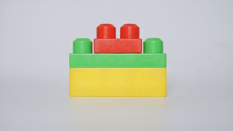 Close-up of toy against white background