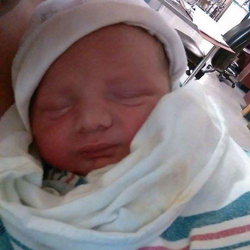 My handsome new nephew/godson! 😃❤️👶💋 Nephew  Babyboy Handsome Godson adorable lovehimalready cutiepie auntielovesyou xoxo
