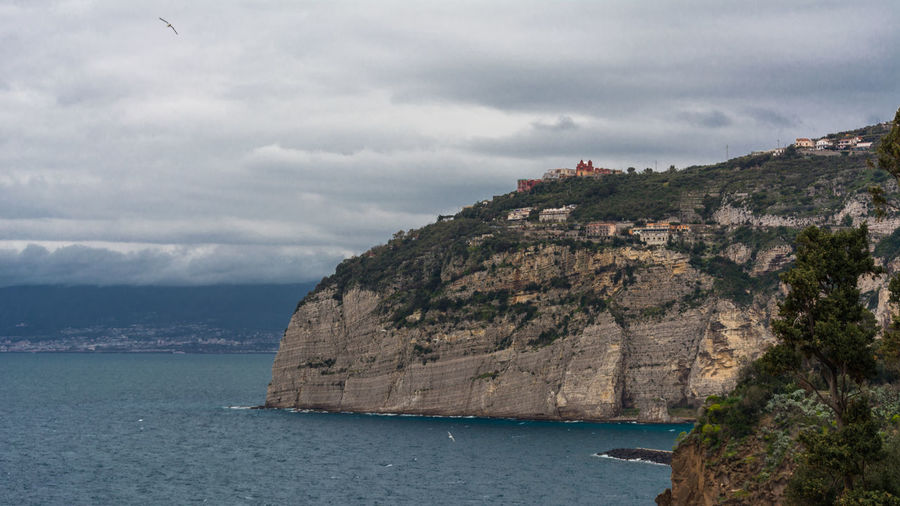 Beach Beauty In Nature Cliff Cloud - Sky Day Idyllic Italy Land Mountain Nature No People Outdoors Rock Scenics - Nature Sea Sky Sorrento Tranquil Scene Tranquility Water Waterfront