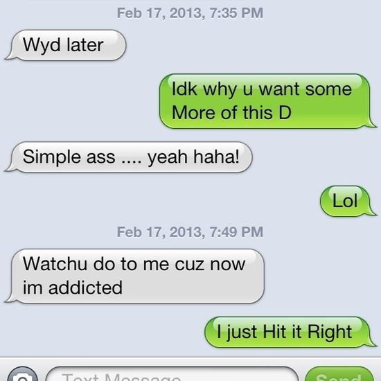 I just Can't Help myself Lol I had to Post this Recent Convo