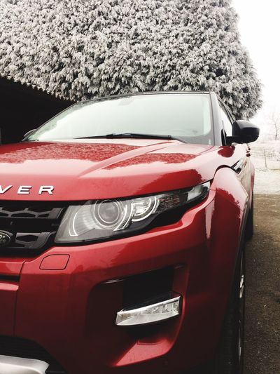 Range Rover Evoque 😍 Car Land Vehicle Collector's Car Black Evoque Lifestyles Reflection EyeEm Gallery IPhoneography Taking Photos Frozen Snow Winter Weather Cold Temperature Weekend Red