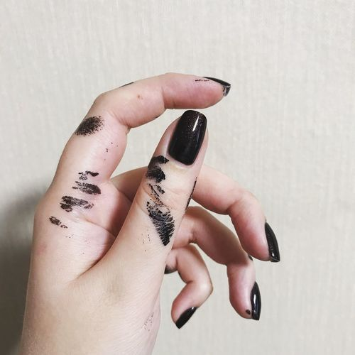 EyeEm Selects Human Hand Human Body Part One Person Hand Real People Lifestyles Body Part Indoors  Human Finger Tattoo Wall - Building Feature Leisure Activity Fashion Women Nail Polish Finger Adult Young Women Human Limb Nail