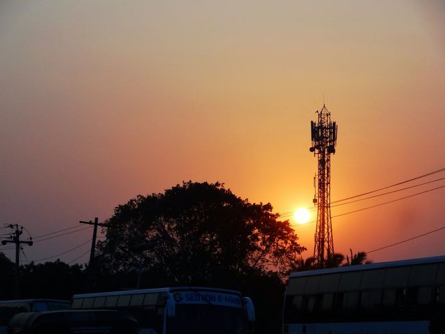 End is just the beginning. Beauty In Nature Cable Mode Of Transport Nature No People Orange Orange Color Outdoors Power Line  Power Supply Scenics Silhouette Sky Street Light Sun Sunset Sunset_collection Tranquil Scene Tranquility Tree