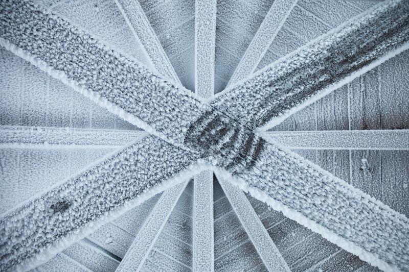 Full frame shot of frozen table