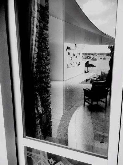 B&w Black And White Reflection Street Photography Picoftheday Summer 2016 Sea And Sky Glass Umbrella Beach Photography Sea Life EyeEm Best Shots Monochrome Photography
