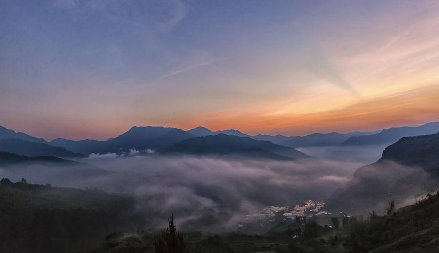 Sunset Ngai Thau, Bat Xat, Lao Cai Beauty In Nature Fog Landscape Mountain Nature No People Sky Sunset