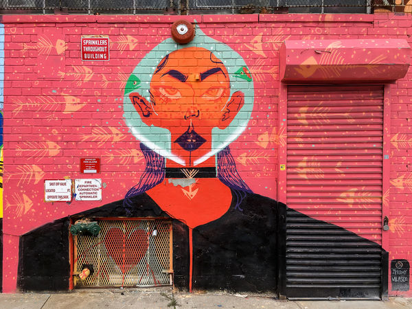 Astoria, Queens Brick Walls Eyes Faces Graffiti Graffiti Art Graffiti Street Art Graffitiporn Hundred Color Street Art Street Art/Graffiti Vibrant Colors