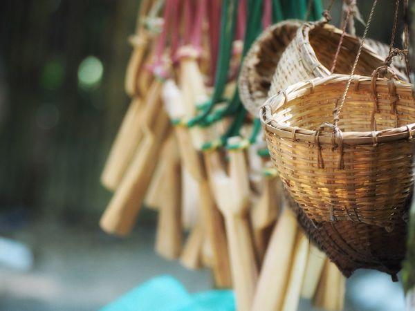 Focus On Foreground Basket Wood - Material Close-up Hanging No People Handmade Bamboobasket Bamboo Basket Slingshot EyeEm Gallery EyeEm EyeEm Best Shots Eyemphotography Best Edit The Week Of Eyeem