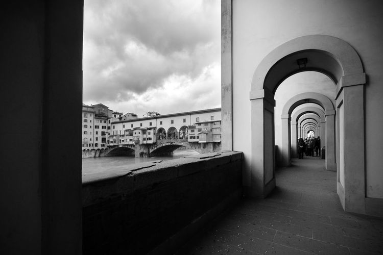 Ponte Vecchio in Florence (Firenze), Tuscany, Italy Florence Florence Italy Florence, Italy Ponte Vecchio Ponte Vecchio - Firenze Old Bridge In Florence Blackandwhite Black And White Tuscany Landmarks Famous Places Travel Destinations Architecture Built Structure Arch Building Building Exterior History No People Outdoors Firenze Italy City Ancient Past