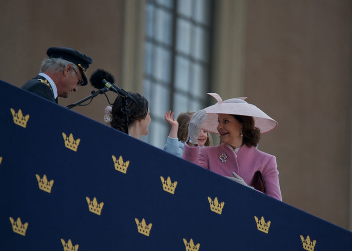 April 30, 2016 Day H.K.H. Princess Sofia H.M. Queen Silvia King Carl XVI Gustaf King Carl XVI Gustaf 70 Years Outdoors Real People Royal Palace Standing Stockholm, Sweden