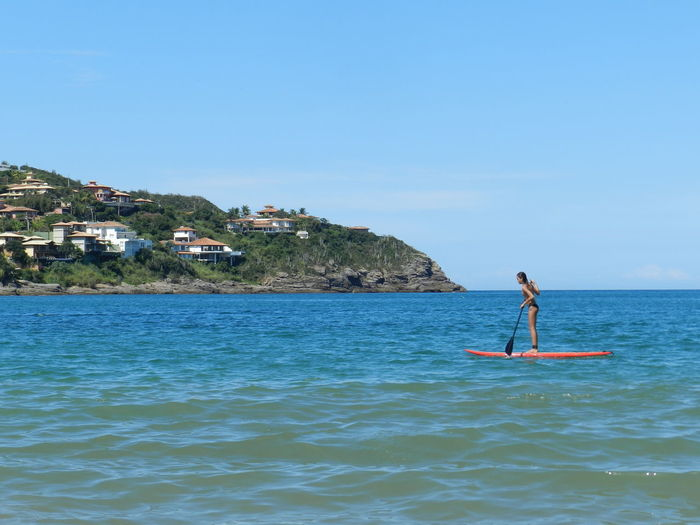 Standuppaddle Buzios Sea Sea And Sky Girl Mar Brasil Sport Esporte