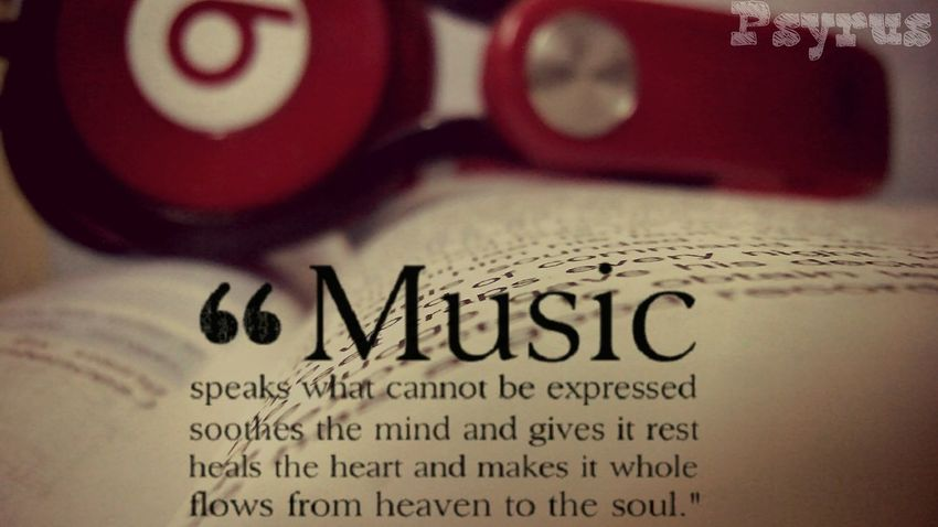 TakeoverMusic Text No People Close-up Indoors  Book BEATS Headphones Music Music Brings Us Together