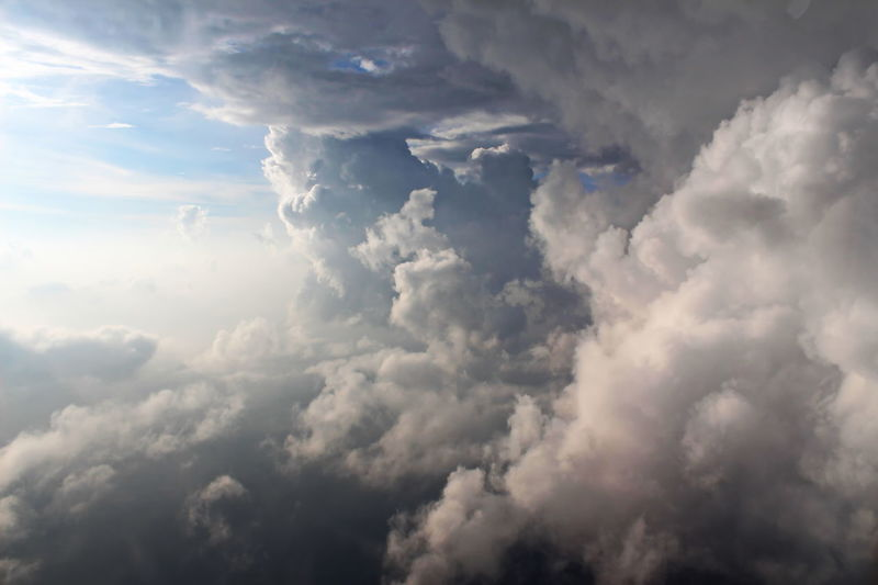 Sky Clouds Clouds In The Sky Airplane View Tranquility Gray Cloud Into The Cloud