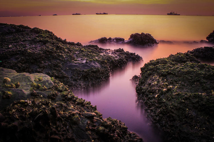 Silkywater Water Beauty In Nature Sky Nature Scenics - Nature Landscape Environment Sunset Sun Purple
