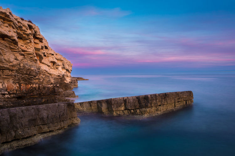 Long exposure seaside Adventure Coastline Filter Long Exposure Majestic Nature Nd Outdoors Power In Nature Rock Rock Formation Scenics Sea Seascape Seaside Stone Sundown Sunset Tranquil Scene Travel Water