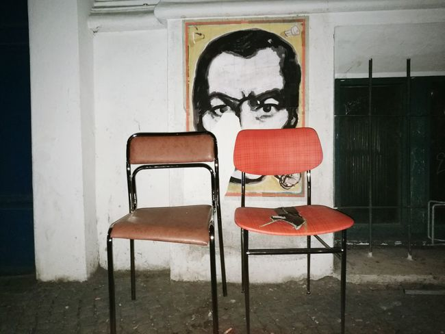 Chair Indoors  Table No People Day EyEmNewHere City Outdoors Street Art Street