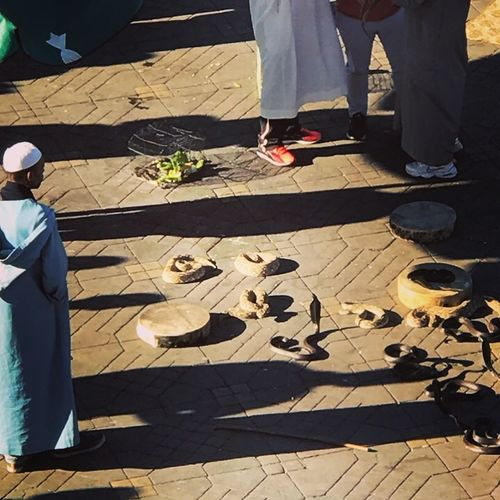 #morocco#snakecharmers#marrakesh Souk Morocco Snake Charmers Medina Marrakech Shadow