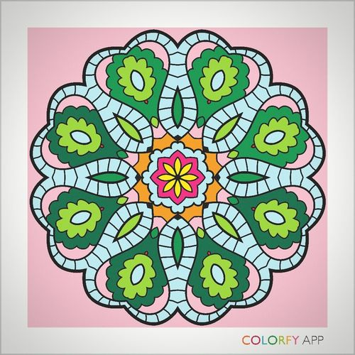 Myart❤ Colorfyapp❤ Sobeautiful❤ Mandalas❤