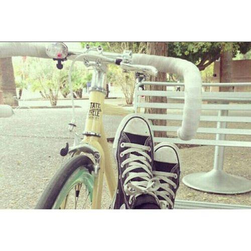 Sepeda sewaan sengaja di upload biar dikira punya gw gitu 😁 Gayagayaan Instanocrop Sepeda Santai CFD Fixie Converse latepost likeforlike followforfollow 🚲