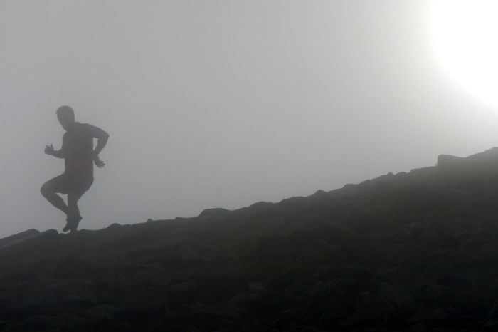 Leisure Activity Misty Mountain Mountain Runner Mountain Running Outdoors Silhouette Sun