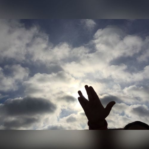 Spock Mr Spock Startrek Rip RIP :( Leonardnimoy Sky Clouds Angel LLAP