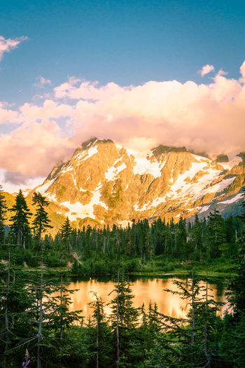 Beauty In Nature Cloud - Sky Day Lake Mountain Mountain Range Nature No People Outdoors Reflection Scenics Sky Tranquil Scene Tranquility Tree Water