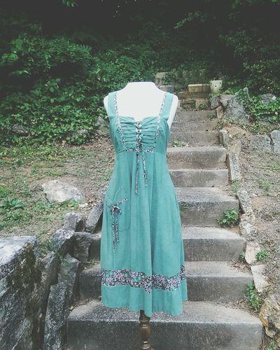 Vintage 1970s Green Sundress